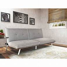 mainstays large futon with contrast piping grey