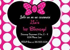 Minnie Mouse Invitation Template Free Editable Free Minnie Mouse Invitation