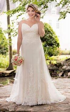 plus size illusion lace french tulle wedding dress