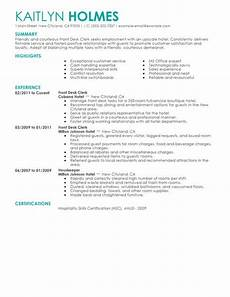 Hotel Desk Clerk Resume Front Desk Clerk Resume Example Hotel Amp Hospitality