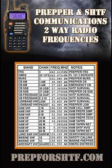 2 Way Radio Frequency Chart 2 Way Radio Frequencies Disaster Preparedness Pinterest