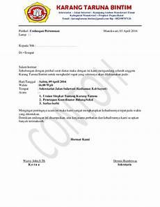 surat undangan pertemuan karang taruna bintim manokwari