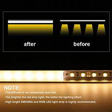 Led Channels And Diffusers For Tape Lighting Led Aluminum Channel U Shape For Led Lights