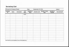 Inventory Control Excel Template Free Download Inventory List Template For Ms Excel Excel Templates