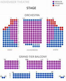 Cort Theater Seating Chart Virginia Rep November Theatre Seating Chart 2017 18