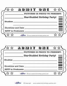 Blank Ticket Stub Template Movie Ticket Template Cyberuse