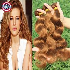 Light Body Hair Auburn Human Hair Weave Indian Body Wave Hair 4