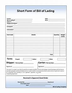 Blank Straight Bill Of Lading 40 Free Bill Of Lading Forms Amp Templates ᐅ Templatelab