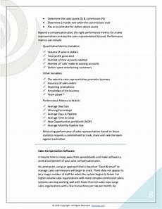 Sales Compensation Plan Template Sales Compensation Plans Examples Templates Software Options