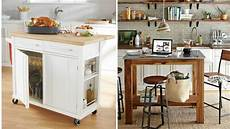 Portable Kitchen Islands In 11 Clean White Design Rilane These 10 Portable Islands Work In Your Kitchen