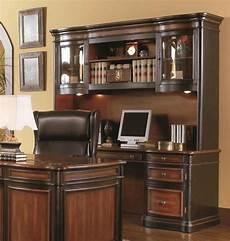 desk credenza executive credenza desk hutch w glass doors two tone