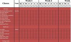 How To Make Schedules Simple Cleaning Schedule My Excel Templates