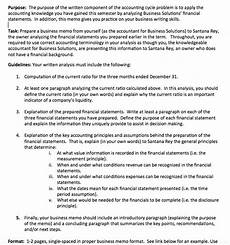 Sample Accounting Memo We Are Suppose To Prepare An Accounting Memo I Am