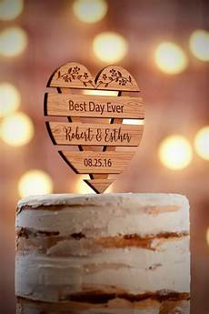 personalized wedding cake topper rustic by