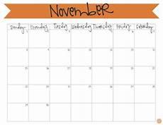 November Calendar Printable November 2015 Calendar Free Printable Live Craft Eat