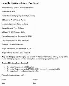 Business Lease Proposal Template Business Lease Proposal Template