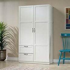 sauder large storage cabinet soft white finish