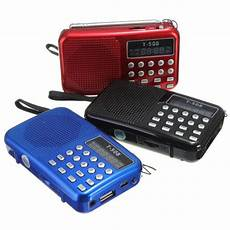 Portable Bands Digital Radio Card by Mini Portable Dual Band Rechargeable Digital Led Display