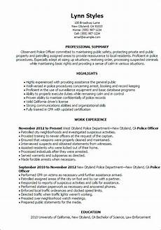 Sample Resume Police Officer Professional Police Officer Templates To Showcase Your