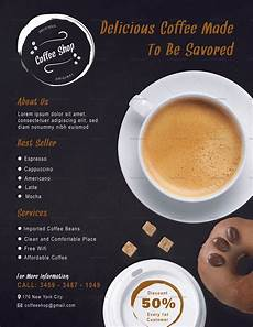 Cafe Flyer Template Coffee Shop Flyer Design Template In Psd Word Publisher