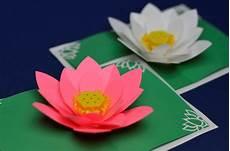 pop up card template flowers lotus flower pop up card template