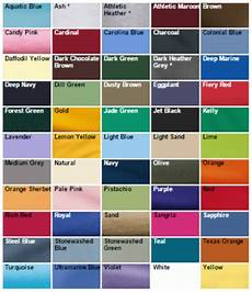 Jerzees Color Chart Silk Screening T Shirts Stitch Logo Uniforms