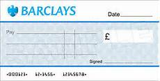 Pretend Cheque Large Blank Barclays Bank Cheque For Charity