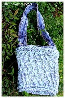 louley yarn loom knit denim bag