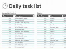 Office Tasks List Daily Task List Templates Office Com