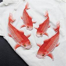 embroidery fish pair of fish cyprinoid carp fish lace embroidery applique fish