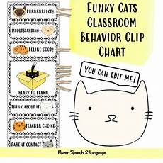 Cat Behavior Chart Cat Behavior Chart Editable Cat Theme Classroom Decor