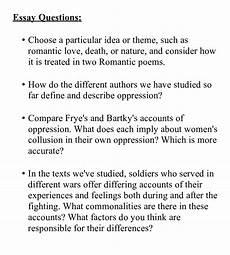 Essay Question Examples Essay Questions