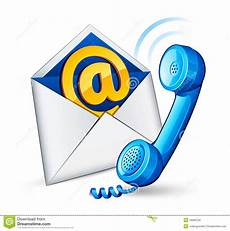 Email Contacts E Mail Icon And Phone Stock Vector Illustration Of