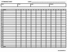 Blank Attendance Sheet For Teachers Free Printable Attendance Sheets Attendance Sheet