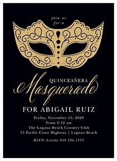 Masquerade Invitation Sample Masquerade Mask Foil Quincea 241 Era Invitations By Basic Invite