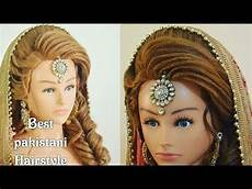 Pics Of Designs In Hair Best Pakistani Mehndi Hairstyle 2018 Step By Step Easy