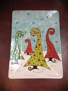 Christmas Pottery Designs Cute Trees On Pottery Pottery Painting Designs