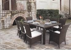 tavolo in rattan sintetico tavolo da pranzo per giardino etnico outlet mobili etnici