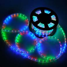 Led Rope Christmas Lights 50 Led Rope Light Flex 2 Wire Outdoor Holiday D 233 Cor