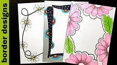 Side Border Designs Floral Border Designs On Paper Border Designs