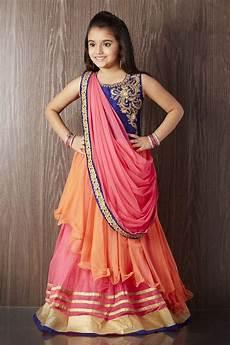 Children Saree Design Picture Of Multicolored Color Designer Saree Style Gown In