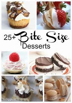 25 bite size desserts