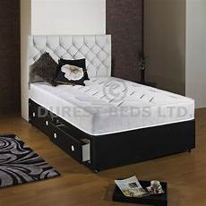 3ft 4ft6 5ft king size faux leather divan bed