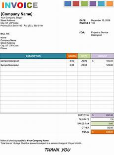 Invoice Template In Excel 15 Hourly Service Invoice Templates In Excel Word And Pdf
