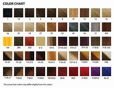 Hair Number Chart The Wigs And Hair Extensions Colour Guide