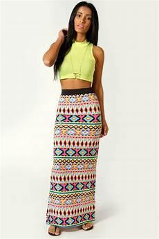 Aztec Design Skirts China 2014 New Design Aztec Print Maxi Skirt For Women