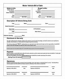 Sale As Is Form For Car Free 8 Sample Automobile Bill Of Sale Templates In Ms