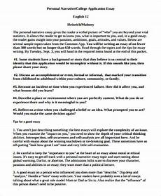 Example Of Narrative Essays Free 8 Sample Narrative Essay Templates In Ms Word Pdf
