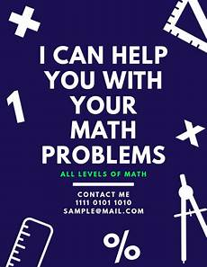 Math Tutor Flyer Examples Copy Of Math Tutoring Lessons Teaching Flyer Postermywall