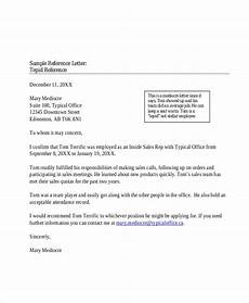 Form Of Reference Letter Free 5 Sample Professional Reference Letters In Pdf Ms Word